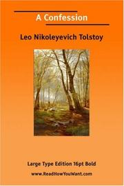 Cover of: A Confession (Large Print) | Tolstoy