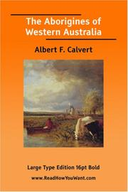 Cover of: The Aborigines of Western Australia