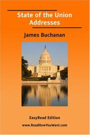Cover of: State of the Union Addresses (James Buchanan) [EasyRead Edition] | James Buchanan