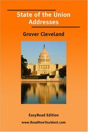 Cover of: State of the Union Addresses (Grover Cleveland)