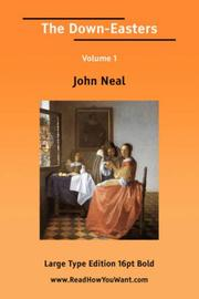 Cover of: The Down-Easters Volume 1 | John Neal