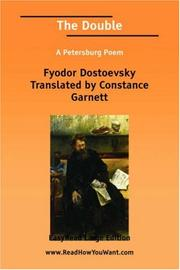 Cover of: The Double A Petersburg Poem | Fyodor Translated by Constance Garnett