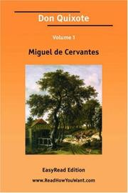 Cover of: Don Quixote Volume 1