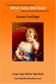 Cover of: What Katy Did Next (Large Print) | Susan Coolidge