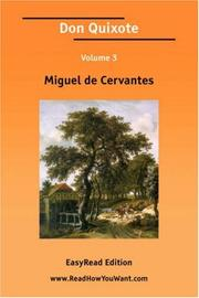 Cover of: Don Quixote Volume 3 [EasyRead Edition] |
