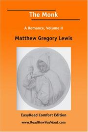 Cover of: The Monk A Romance, Volume II