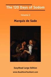 Cover of: The 120 Days of Sodom Volume II | Marquis de Sade