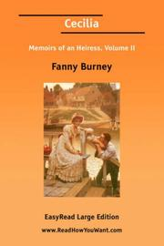 Cover of: Cecilia | Fanny Burney