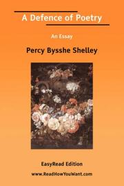 Cover of: A Defence of Poetry An Essay