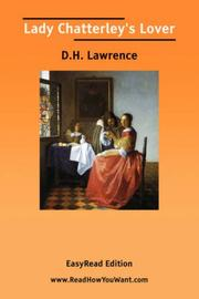 Cover of: Lady Chatterley\'s Lover [EasyRead Edition] by D. H. Lawrence