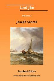 Cover of: Lord Jim Volume 1