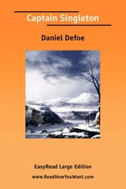 Cover of: Captain Singleton [EasyRead Large Edition] | Daniel Defoe