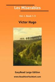 Cover of: Les Miserables Vol. I, Book 13 | Victor Hugo