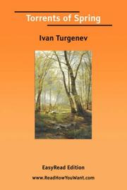 Cover of: Torrents of Spring [EasyRead Edition] | Ivan Sergeevich Turgenev