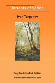 Cover of: Torrents of Spring [EasyRead Comfort Edition] | Ivan Sergeevich Turgenev