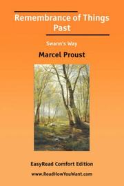 Cover of: Remembrance of Things Past Swanns Way