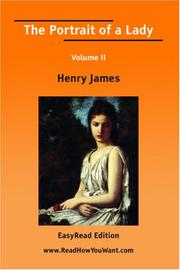 Cover of: The Portrait of a Lady Volume II | Henry James Jr.