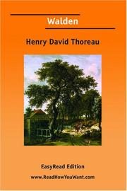 Cover of: Walden [EasyRead Edition] | Henry David Thoreau
