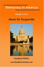 Cover of: Democracy in America Volume II of IV[EasyRead Edition]