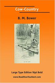 Cover of: Cow-Country | B. M. Bower