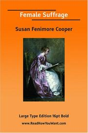 Cover of: Female Suffrage