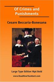 Cover of: Of Crimes and Punishments