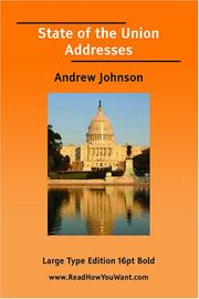 Cover of: State of the Union Addresses | Andrew Johnson
