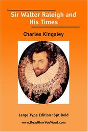 Cover of: Sir Walter Raleigh And His Times