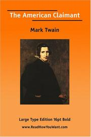 Cover of: The American Claimant  (Large Print) | Mark Twain