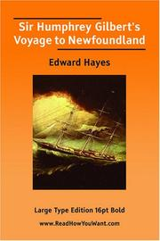 Cover of: Sir Humphrey Gilbert's Voyage to Newfoundland
