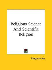Cover of: Religious Science And Scientific Religion