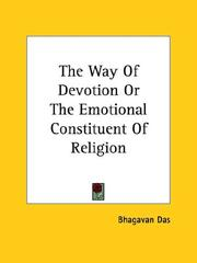 Cover of: The Way Of Devotion Or The Emotional Constituent Of Religion