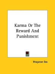 Cover of: Karma Or The Reward And Punishment