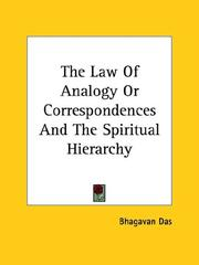Cover of: The Law of Analogy or Correspondences and the Spiritual Hierarchy