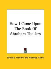Cover of: How I Came upon the Book of Abraham the Jew