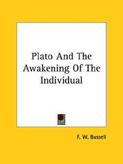 Cover of: Plato And The Awakening Of The Individual