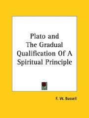 Cover of: Plato and The Gradual Qualification Of A Spiritual Principle