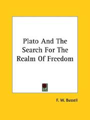Cover of: Plato And The Search For The Realm Of Freedom
