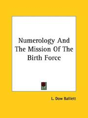 Cover of: Numerology And The Mission Of The Birth Force