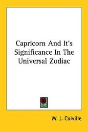 Cover of: Capricorn And It
