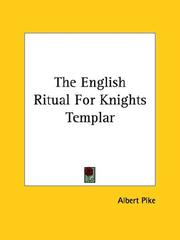 Cover of: The English Ritual For Knights Templar