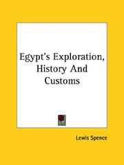 Cover of: Egypt's Exploration, History And Customs