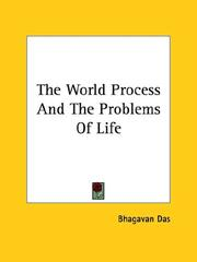 Cover of: The World Process And The Problems Of Life