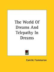 Cover of: The World of Dreams and Telepathy in Dreams