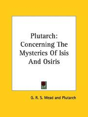 Cover of: Plutarch | G. R. S. Mead, Plutarch