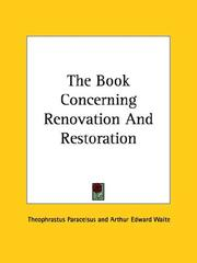 Cover of: The Book Concerning Renovation And Restoration
