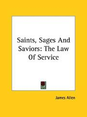 Cover of: Saints, Sages And Saviors