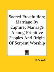 Cover of: Sacred Prostitution | G. S. Wake