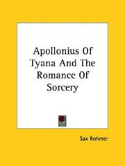 Cover of: Apollonius Of Tyana And The Romance Of Sorcery