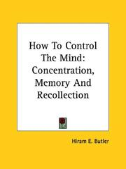 Cover of: How To Control The Mind